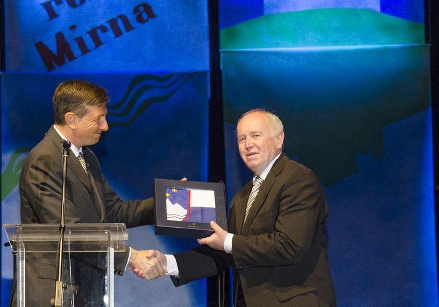 Borut Pahor in Dušan Skerbiš