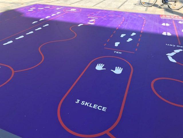 Na več kot 20 lokacijah postavljenih 14 točk v obliki športnih poligonov.