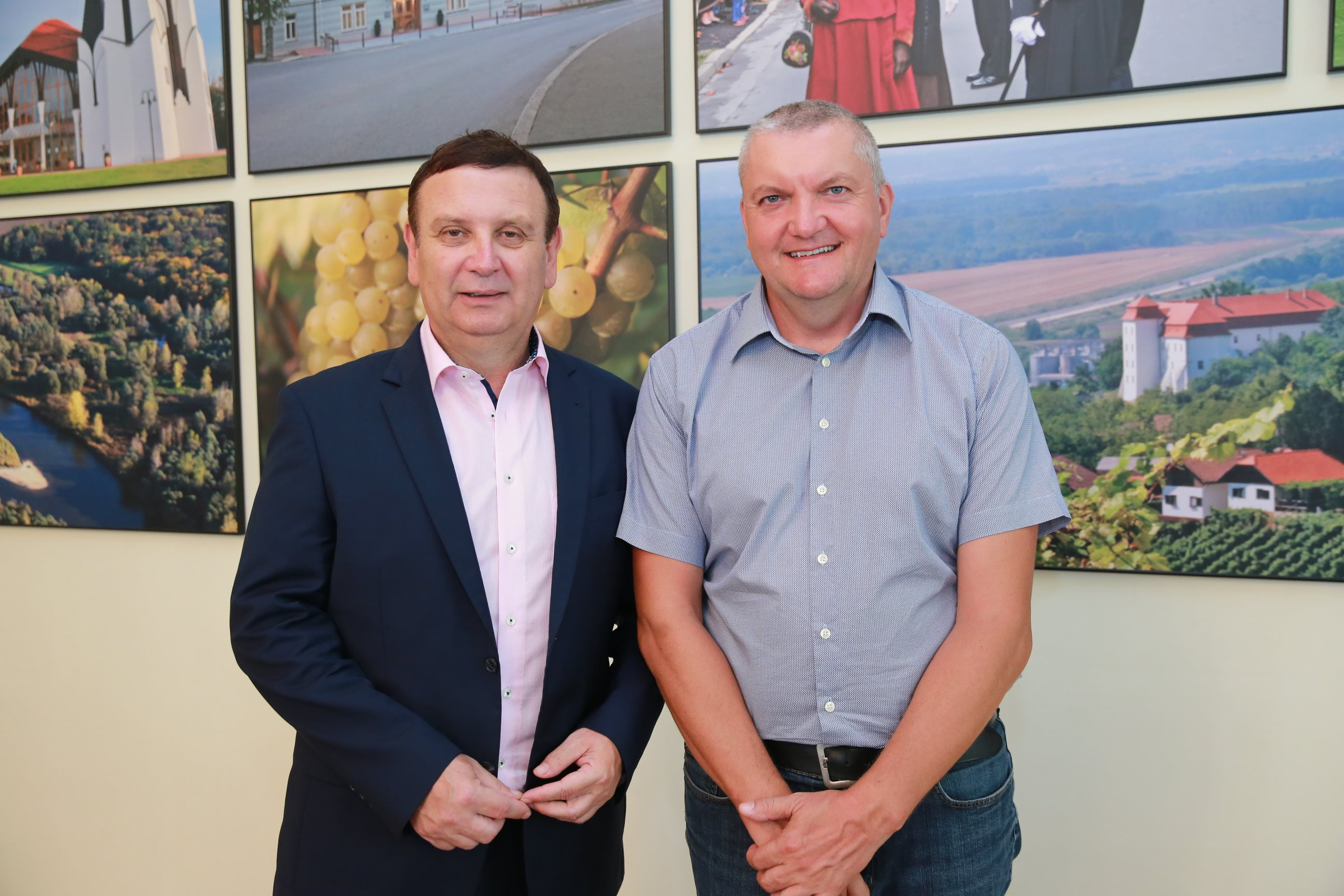 Anton Balažek, župan Lendave in Igor Kolenko, predsednik organizacijskega odbora Festival Vinarium; Mediaspeed
