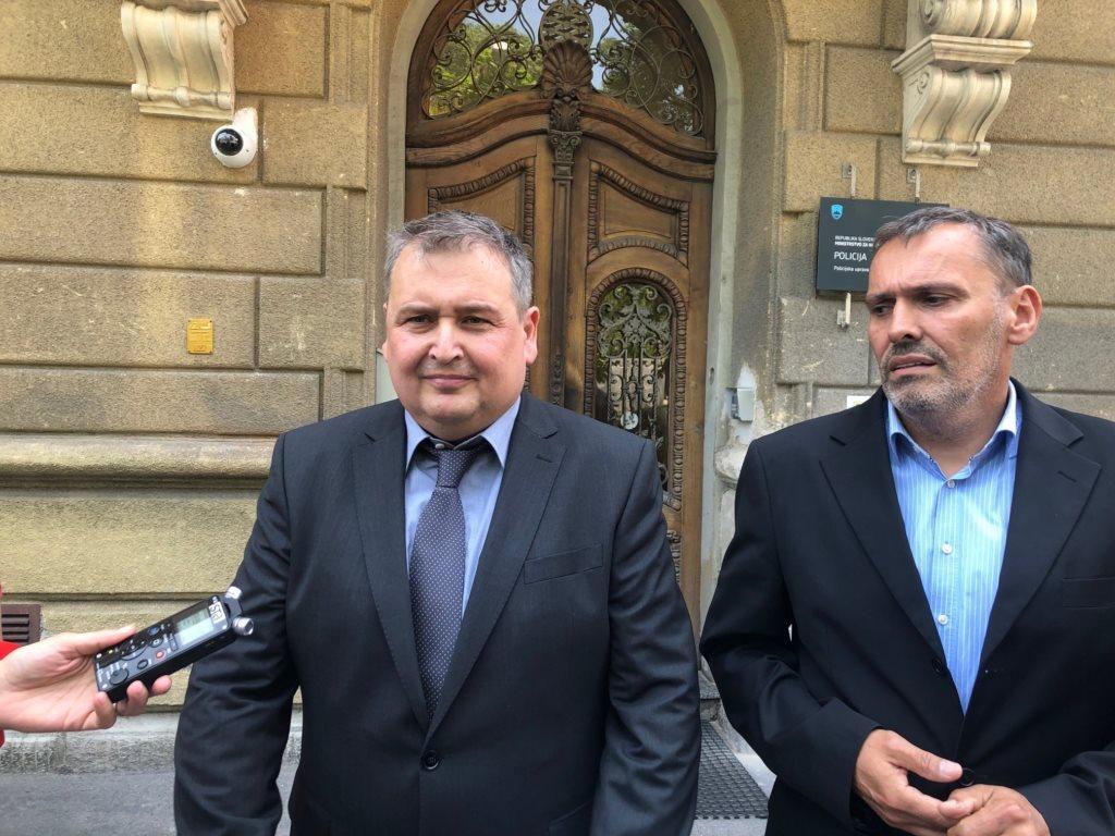 Vodja sektorja kriminalistične policije na Policijski upravi Maribor Andrej Kolbl ter Bojan Kitl.