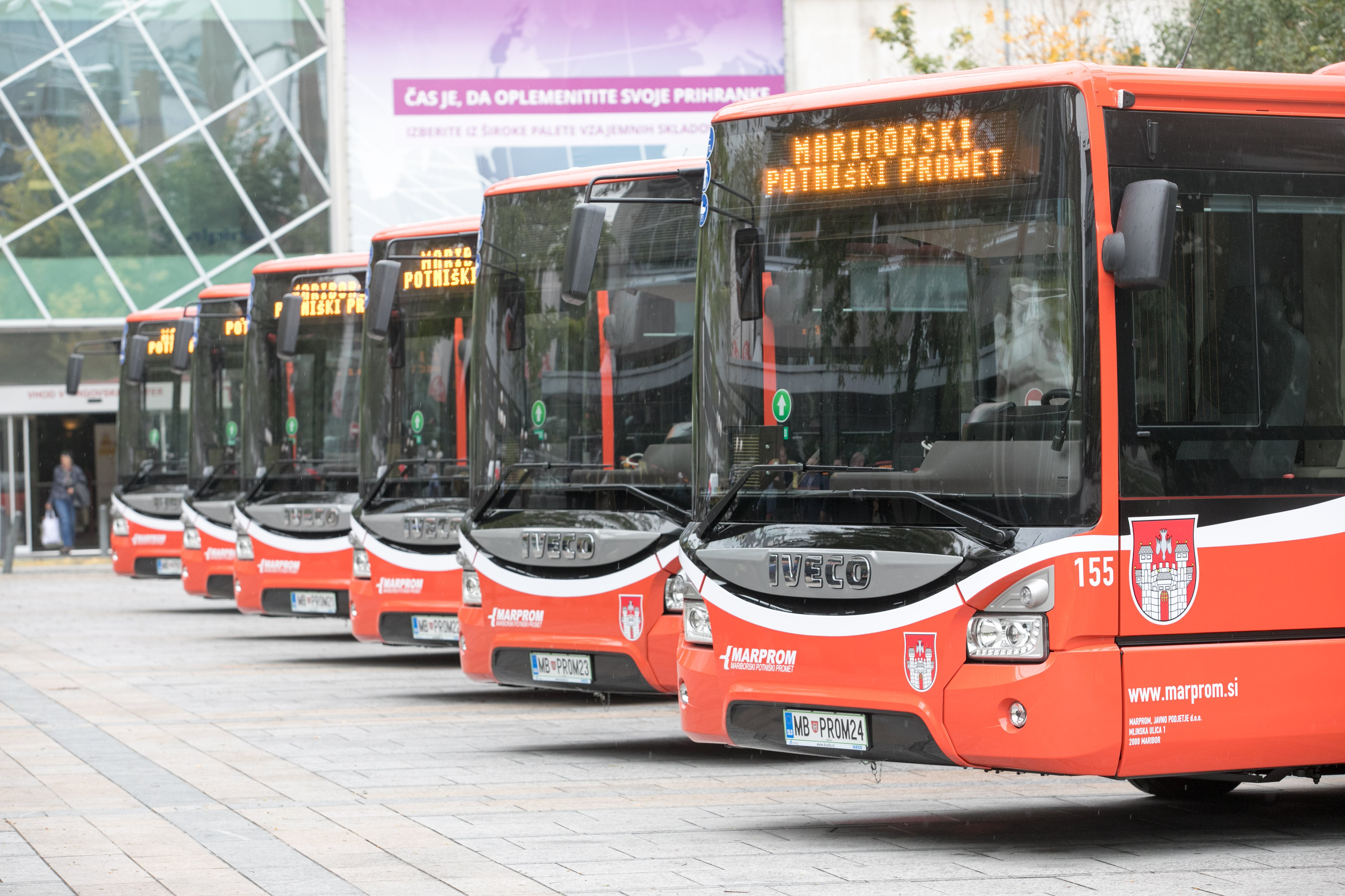 Vozni park mariborskega mestnega potniškega prometa se uvršča med najmlajše in najsodobnejše v Sloveniji.