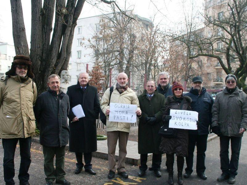 Stanko Štrajn, Franci Magister, Tone Grahek, Dušan Plut, Ivan Malesic, Sonja Bezenšek,Marjan Videtic in Andrej Vidic
