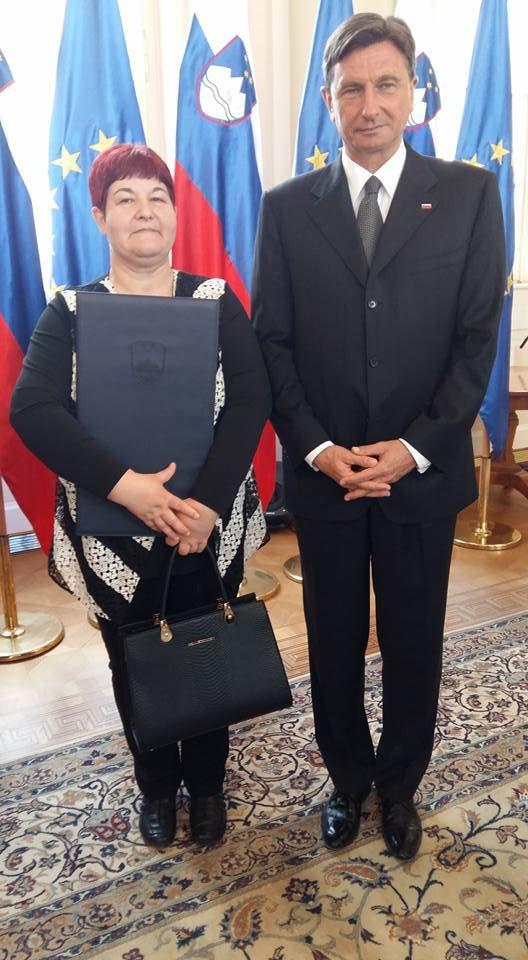Priznanje za prostovoljstvo je prejela Cvetka Vereš