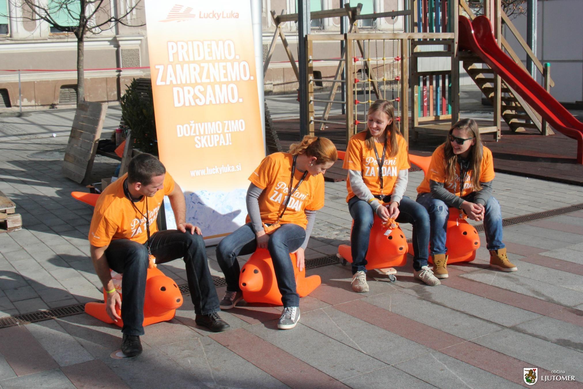 Za ledene radosti v prleški prestolnici bo tudi letos poskrbela ekipa Lucky Luka; foto: Občina Ljutomer