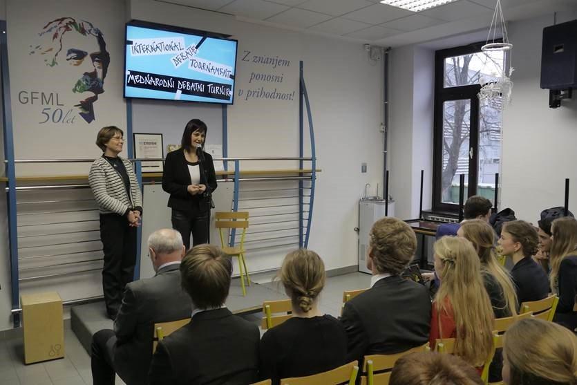 Debaterjem je dobrodošlico v Prlekiji izrekla tudi ljutomerska županja mag. Olga Karba