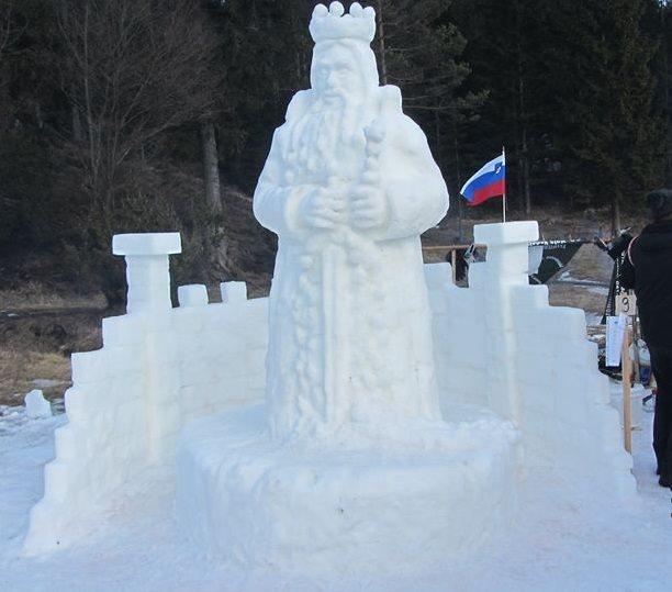 Kralj Matjaž, kot so ga upodobili Prleki, je prepričal občinstvo; foto: Mirko Zemljič