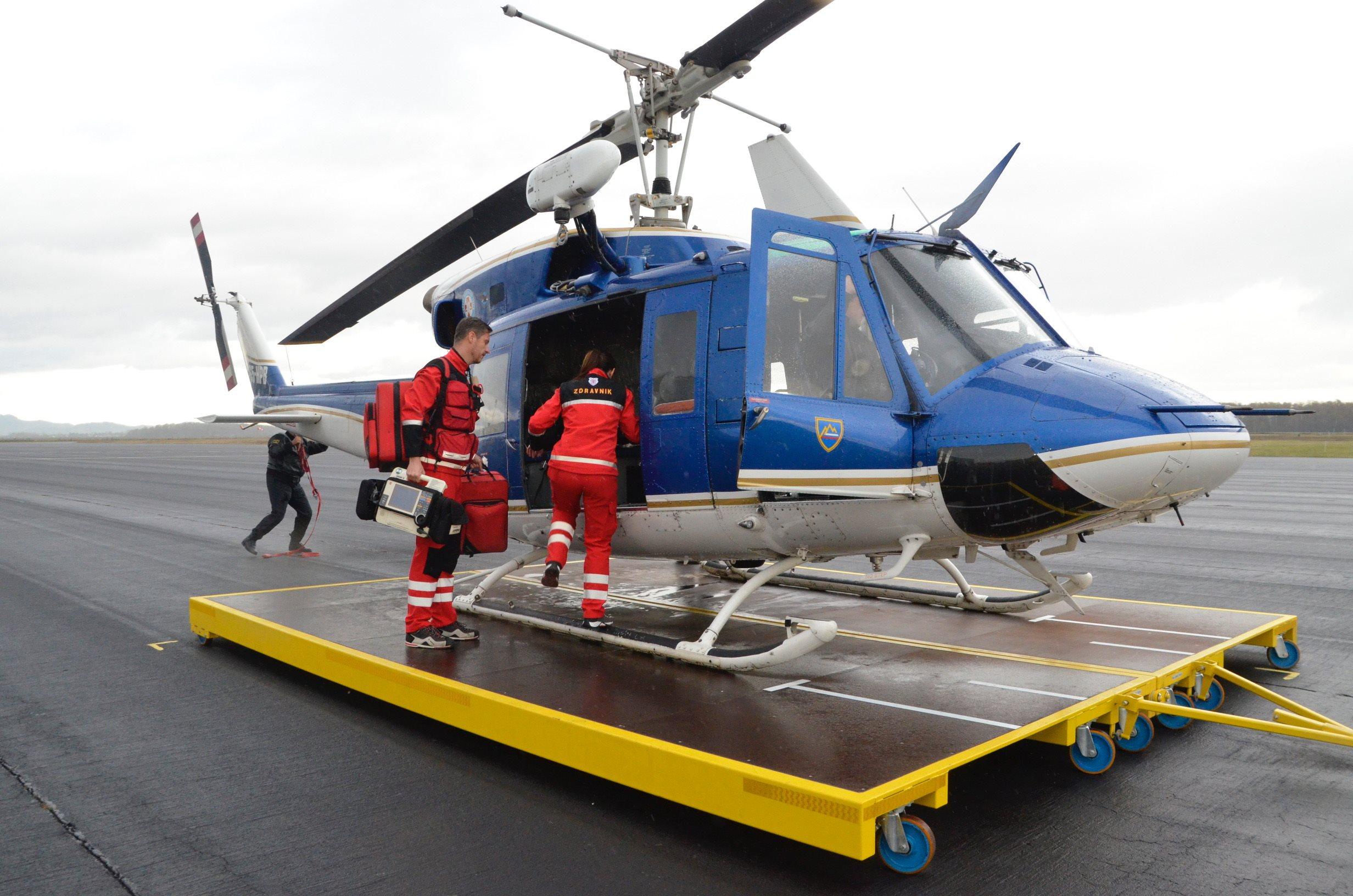 Skupno je bil helikopter na mariborskem letališču aktiviran 231-krat.