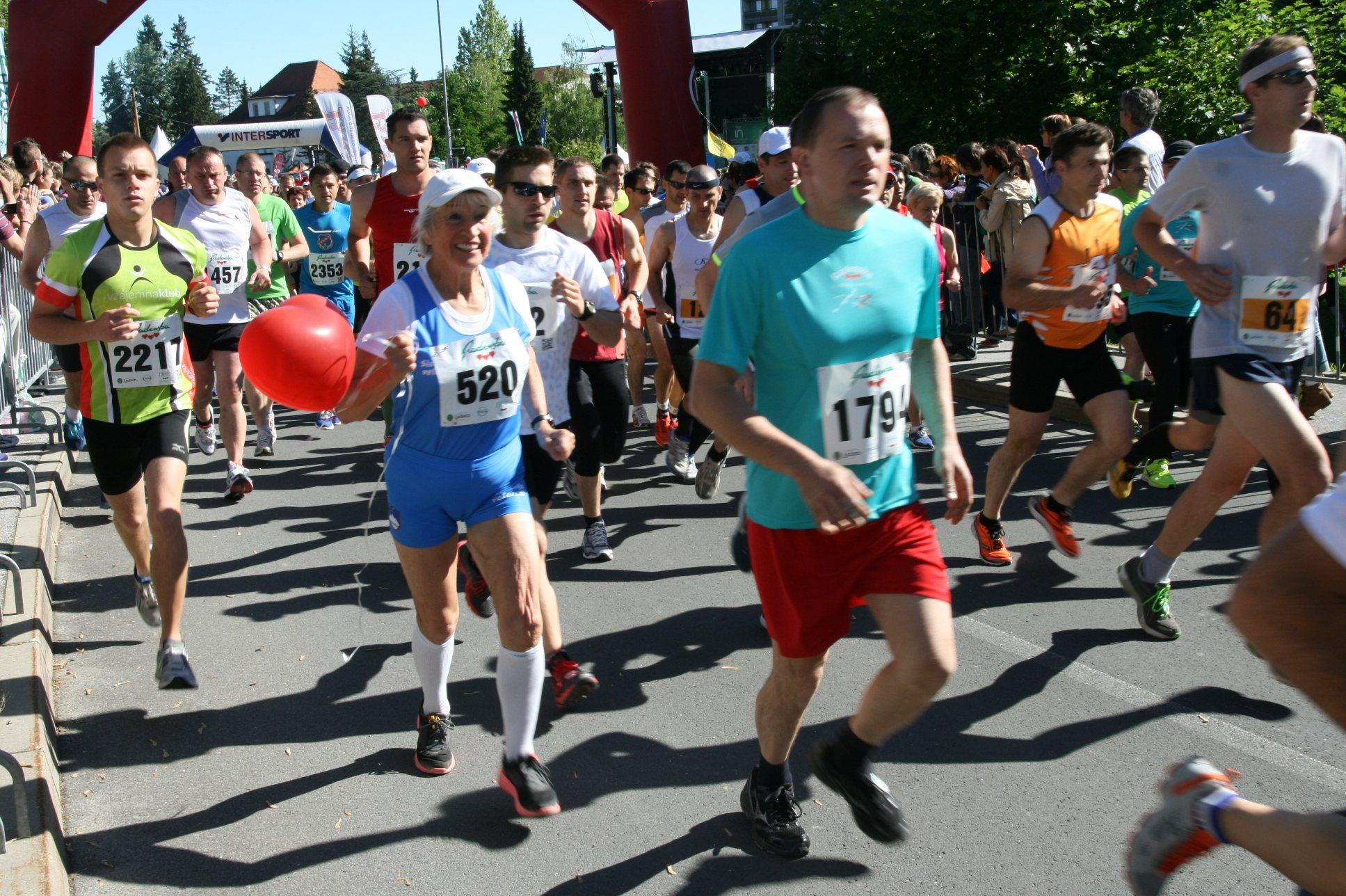 Maraton Treh src je v Radence privabil množico tekačev.