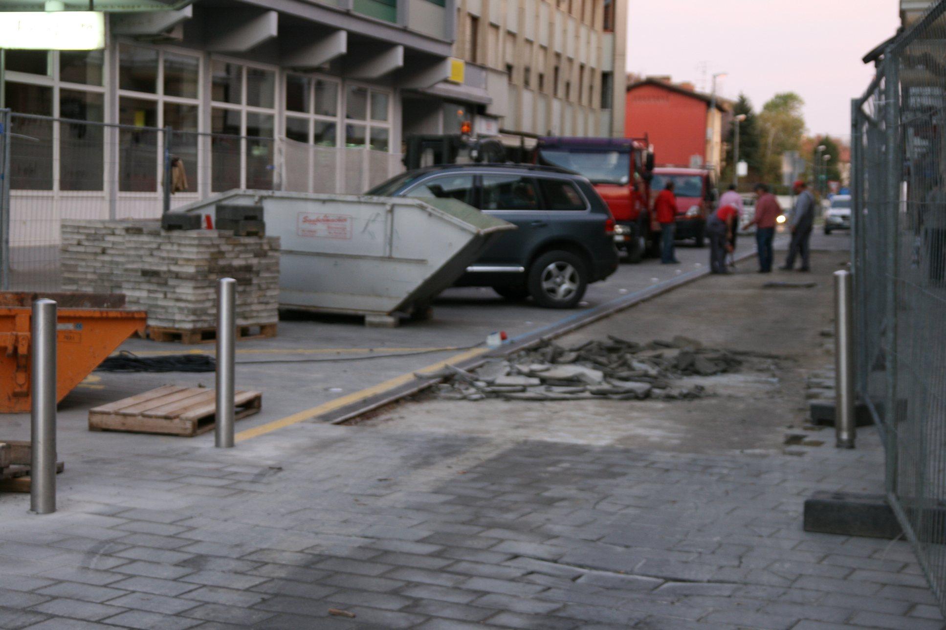 Izvaja se sanacija Glavnega trga v Ljutomeru.