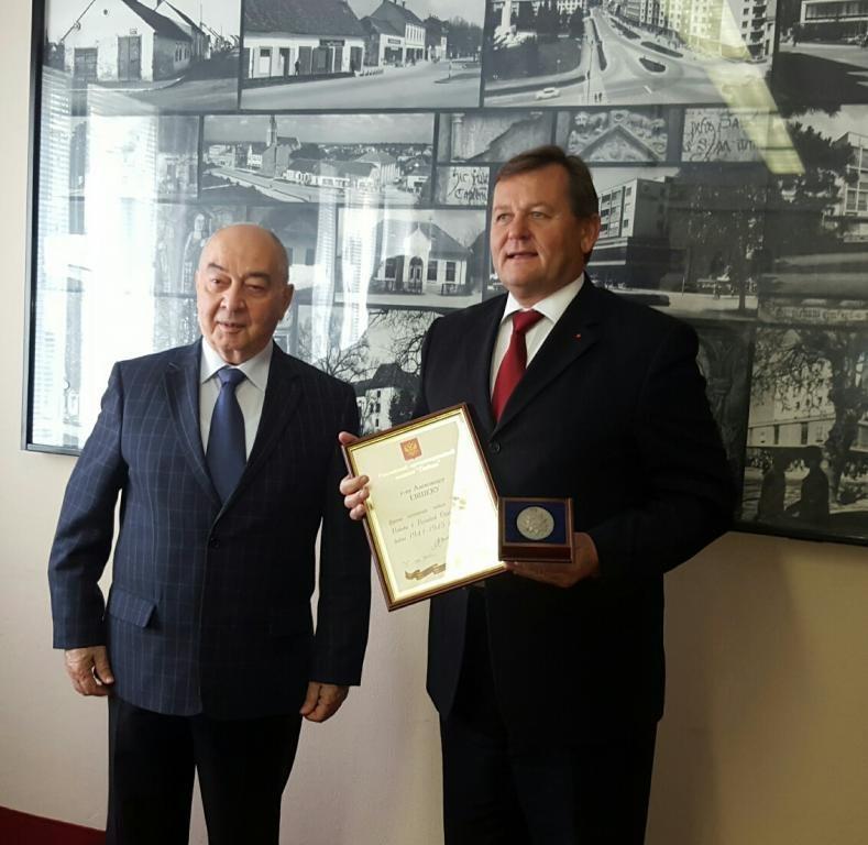 Župan Jevšek je prejel visoki priznanji iz Rusije; foto: občina Murska Sobota