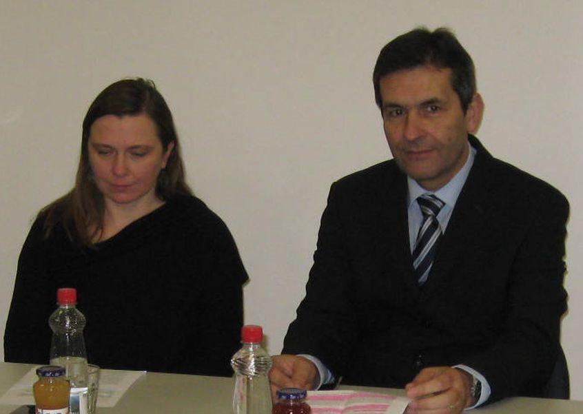 Katja Ceglar in krški župan Miran Stanko