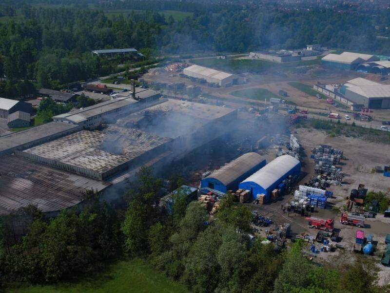 Požar v podjetju Kemis, maj 2017