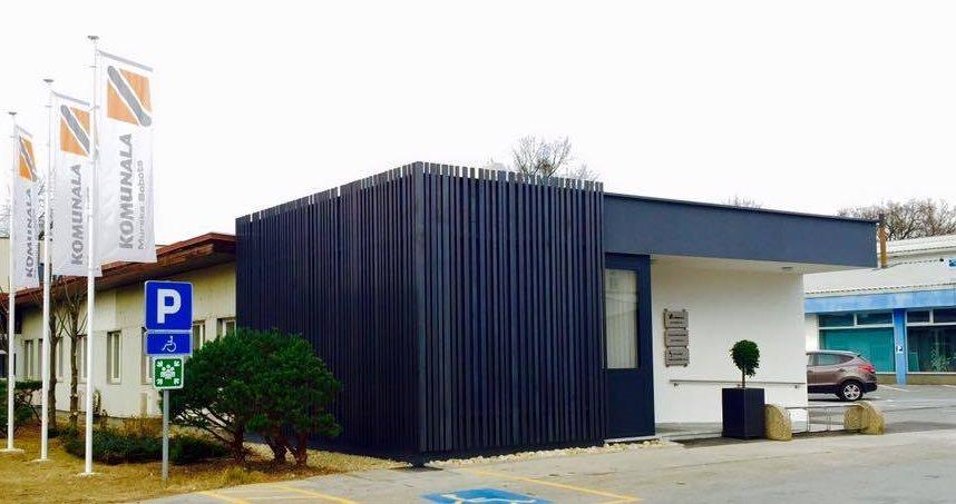 Upravna stavba Komunale Murska Sobota odslej s prijetnejšim izgledom