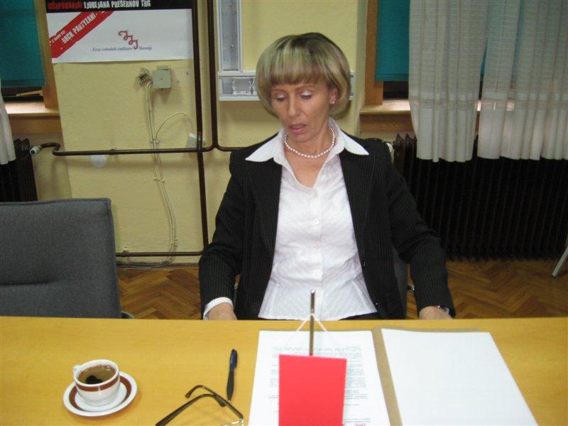 Majda Marolt, sindikalistka