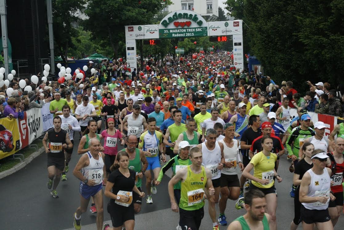 35. tekaškega praznika v Radencih se je udeležilo blizu 6.000 tekačev