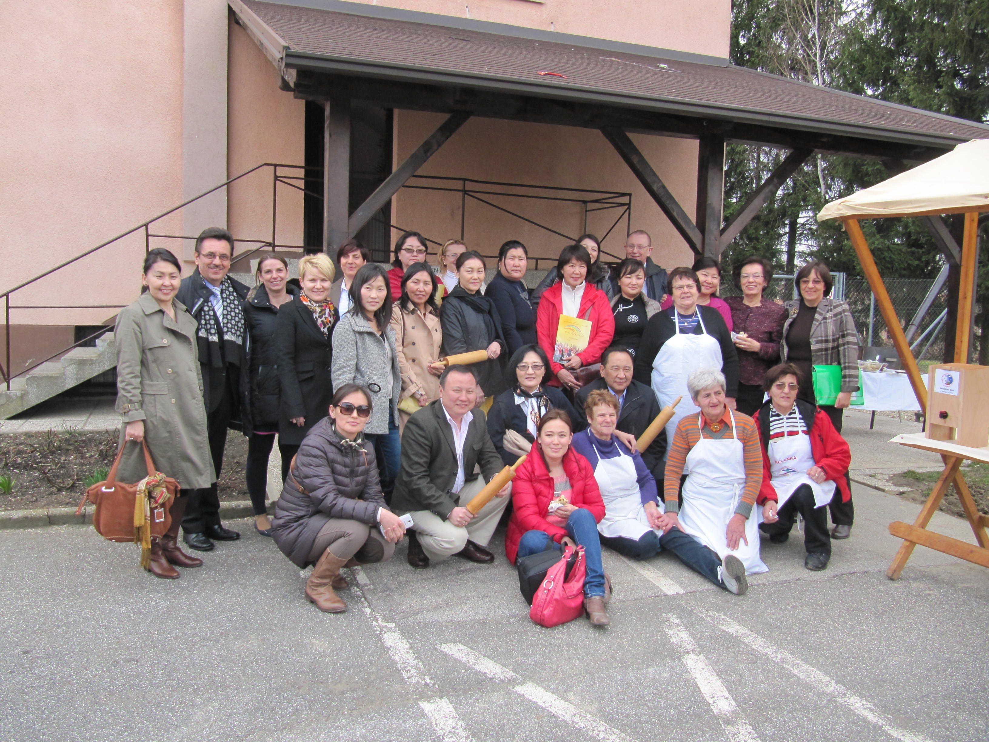Mongolsko delegacijo je na Razkrižju pozdravil tudi župan Stanko Ivanušič