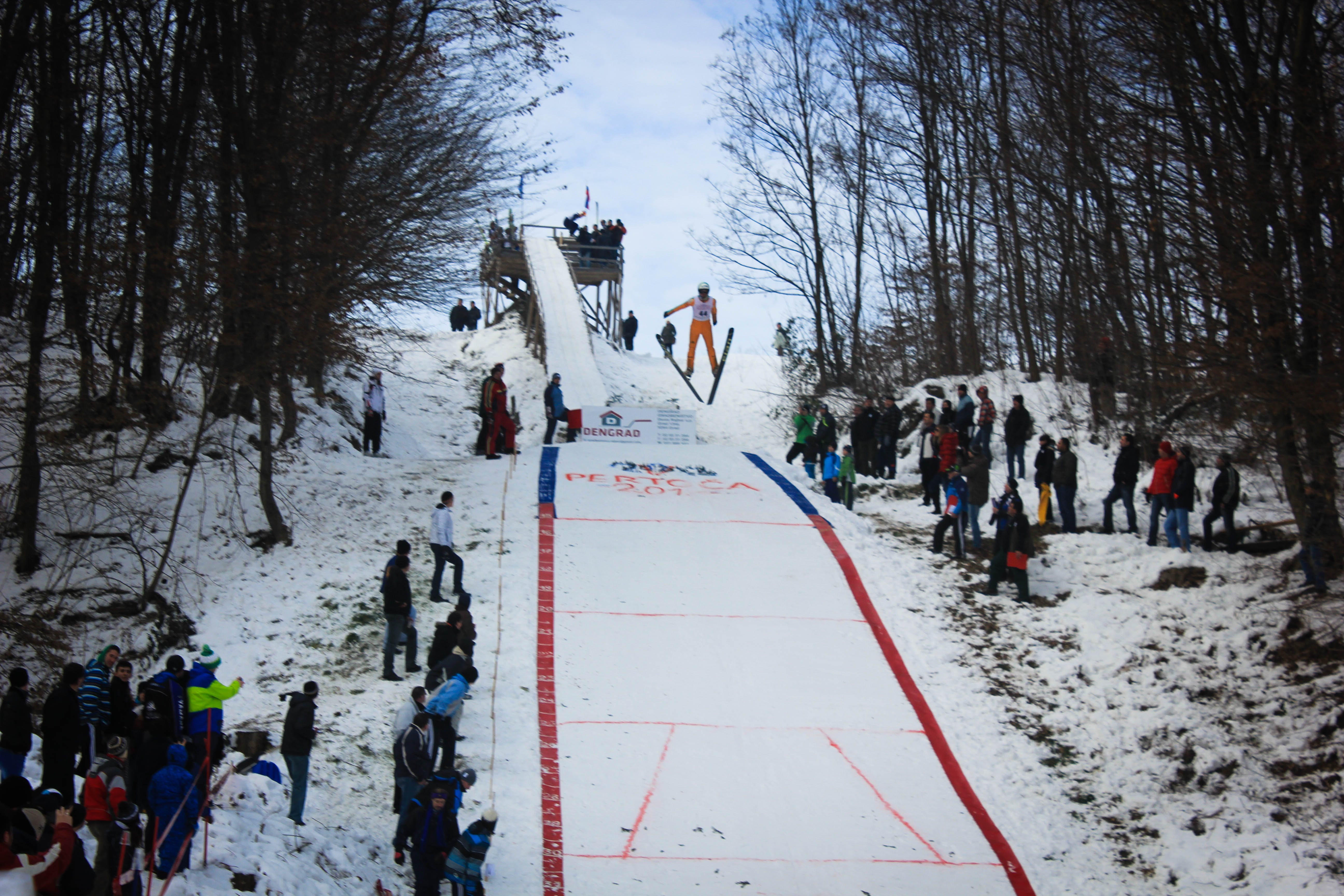 Na Pertoči je postavljen nov rekord skakalnice; foto: Denis Malačič