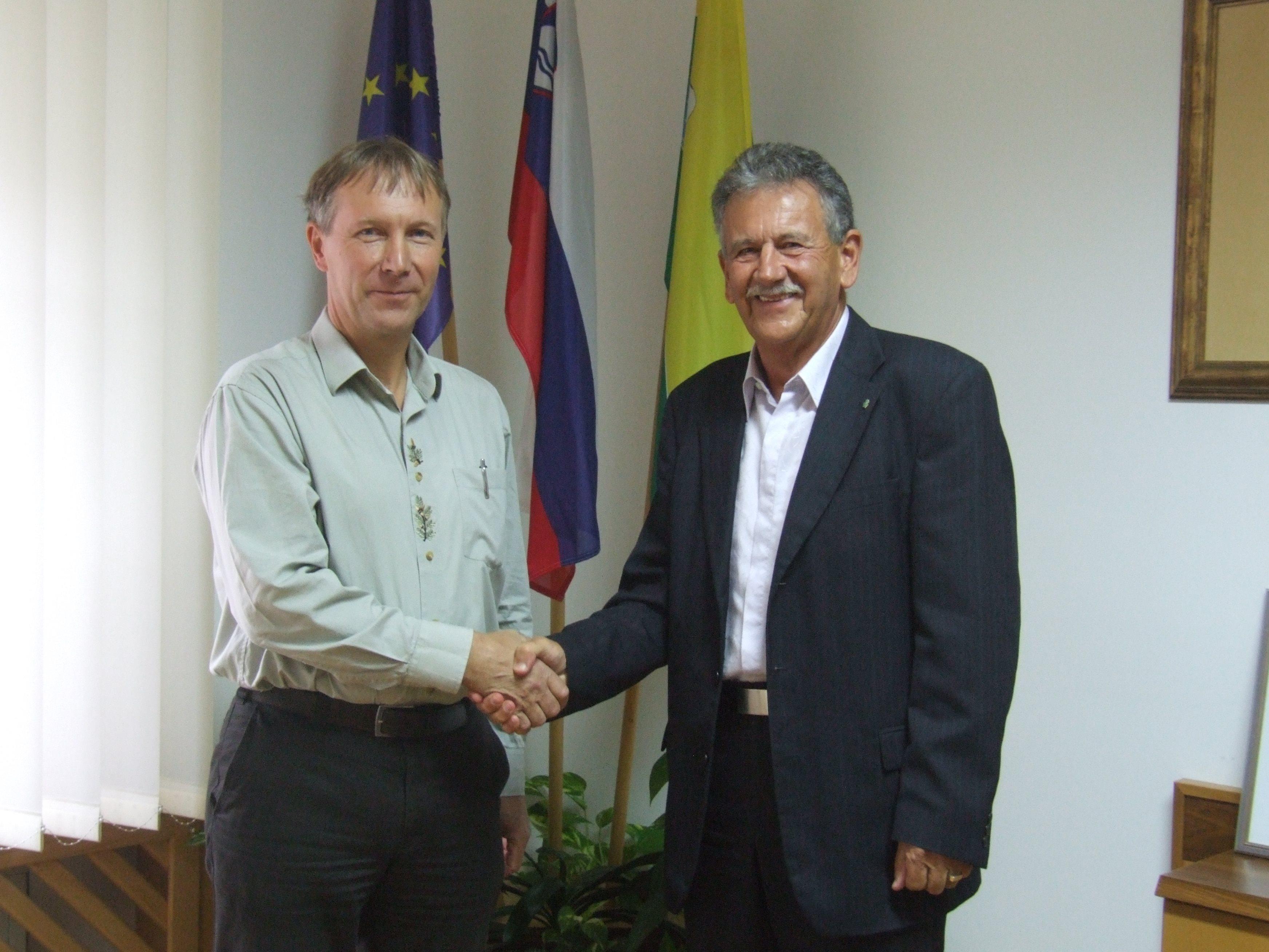 Sranko Rojko (levo) in Anton Kampuš (desno)