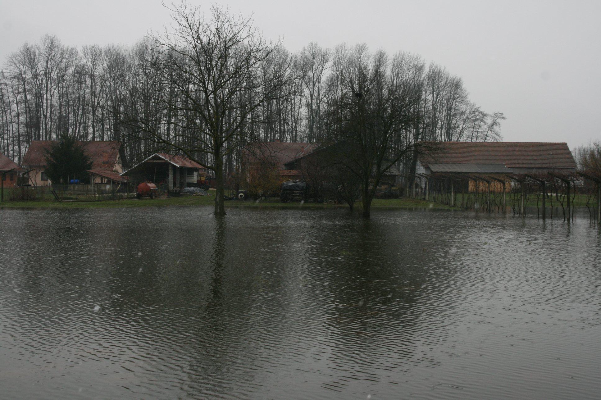 V Pomurju so številna kmetijska zemljišča pod vodo.