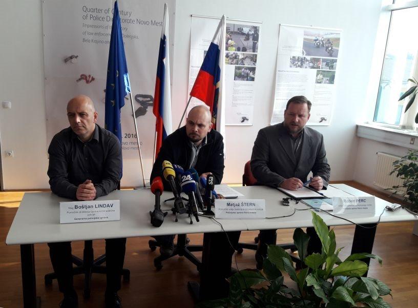 Boštjan Lindav z GPU ter Matjaž Štern in Robert Perc s PU Novo mesto