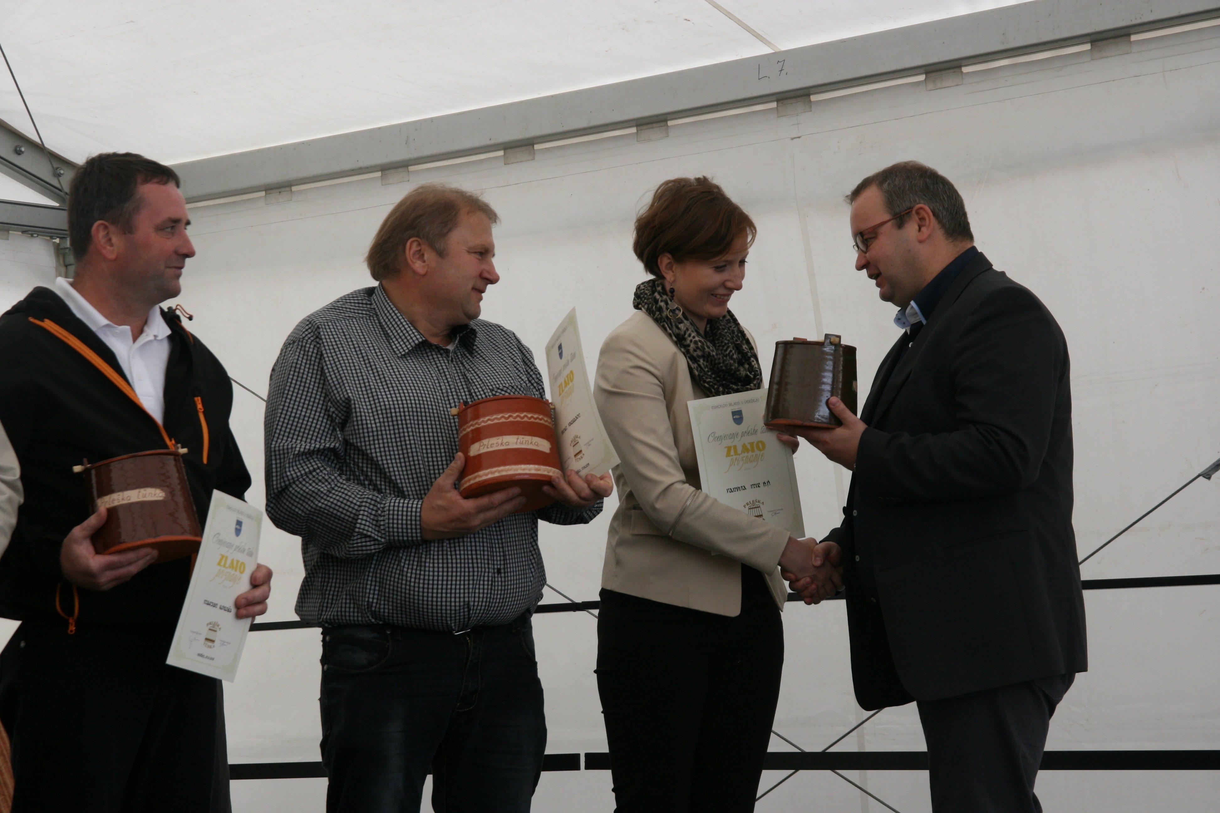 Najboljšim trem je čestital tudi župan Veržeja Slavko Petovar