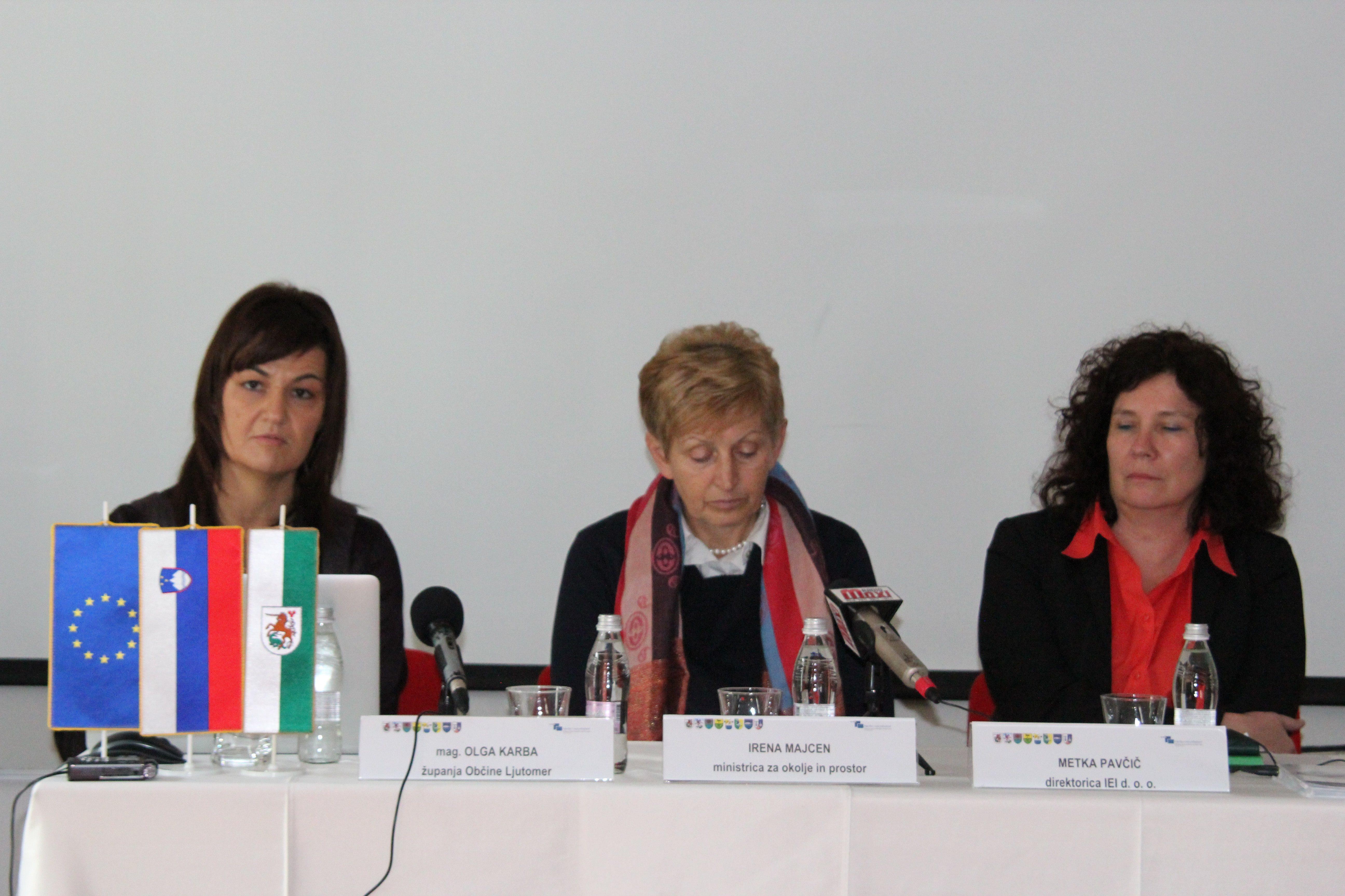 Županja Olga Karba in ministrica Irena Majcen sta spregovorili o pomurskem vodovodu -  sistem C
