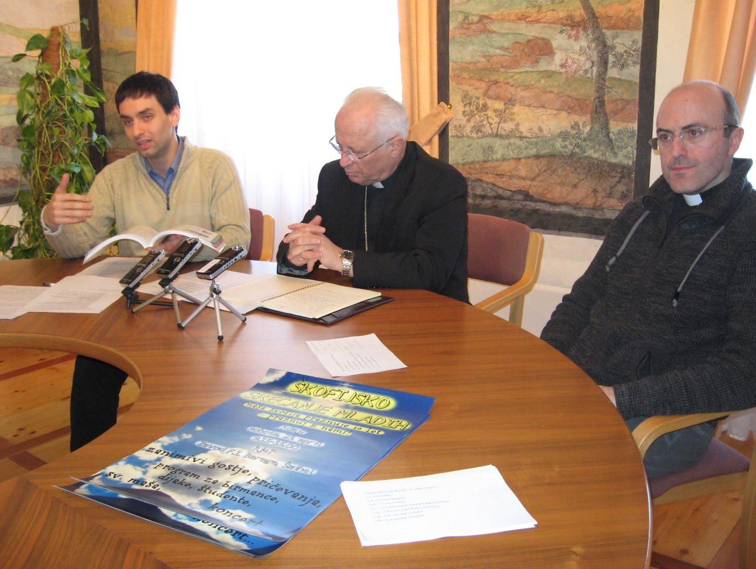 Janko Pirc, škof Andrej Glavan in Mitja Bulič