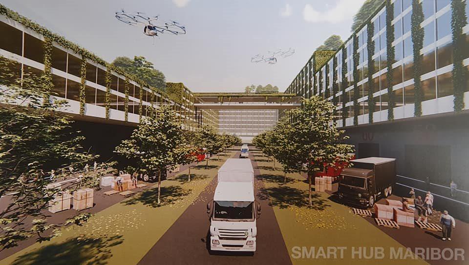 Po besedah Vrtovca zasnova zajema okoli 400 hektarjev površin, kjer naj bi zrasel moderen logistični center.