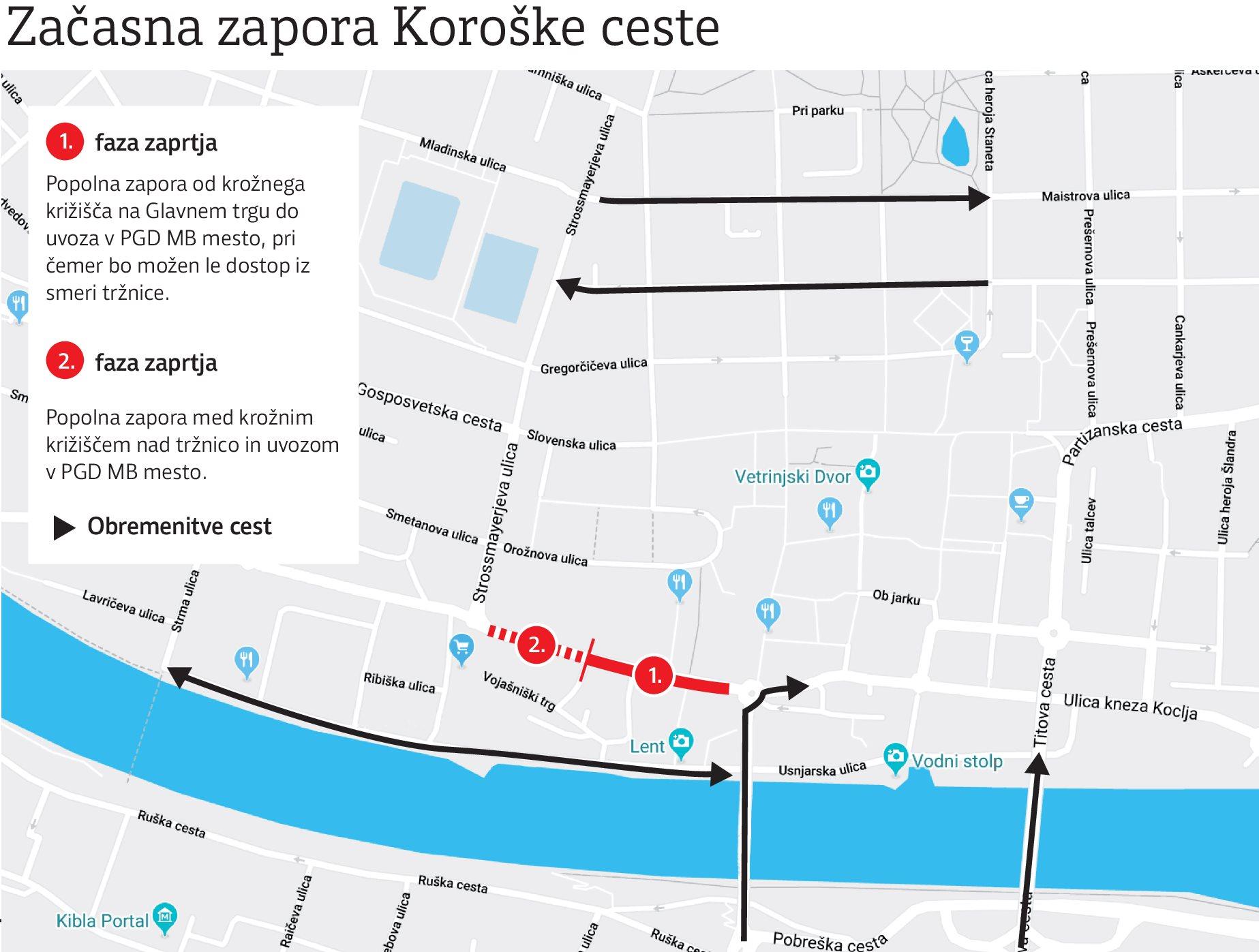 Mariborska občina želi v prihodnjih dveh letih izpeljati popolno prenovo Koroške ceste.
