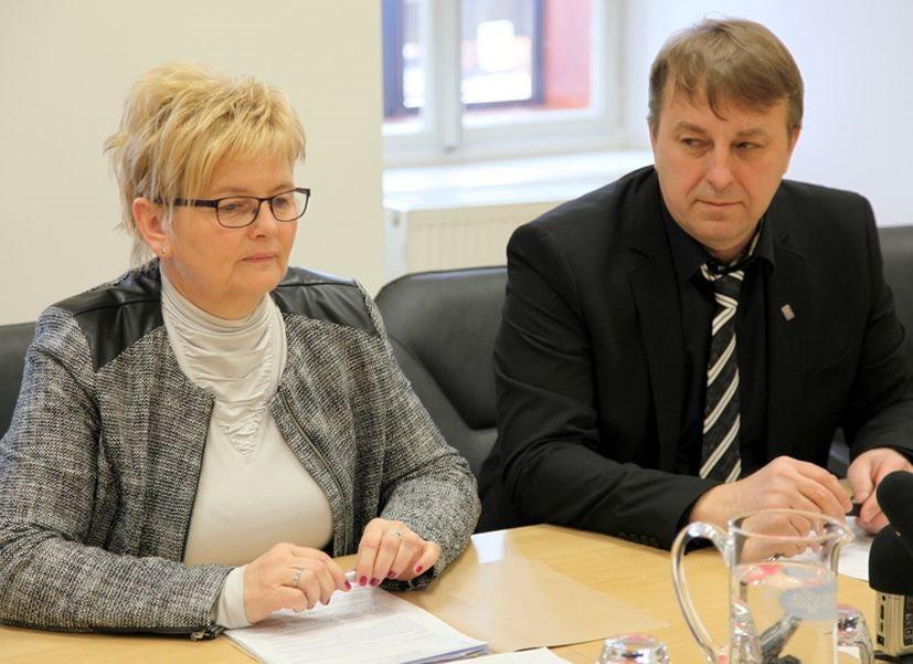 Županja Mojca Č. Stjepanovič in predsednik zbornice Stanislav Malerič